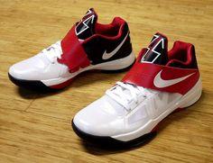 Nike Zoom KD IV  White/White-Obsidian-University Red  07/28/12  $95