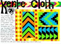 The Spider Weaver Legend Of Kente Cloth - Lessons - Tes Teach African Art Projects, African Art For Kids, Ghana Art, 3rd Grade Art, Second Grade, African Textiles, African Patterns, Jr Art, Kente Cloth