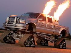 Stacks and tracks! Lifted Ford Super Duty