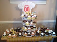 Nautical baby shower ... Cupcake spread!