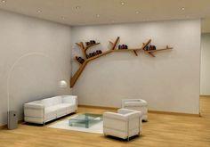 Create a Wall With A Bookshelf | Unique Bookshelf application in Modern Interior