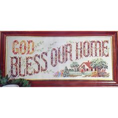 GOD BLESS OUR Home Vintage Stamped Cross Stitch Kit Belgian Linen Mid Century by NeedleLittleTherapy on Etsy Crewel Embroidery Kits, Embroidery Thread, Cross Stitch Embroidery, Linen Pillows, Linen Fabric, Vintage Cross Stitches, Vintage Stamps, Cross Stitch Kits, Christmas Greetings