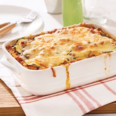 Lasagne aux courgettes et aubergine - 5 ingredients 15 minutes Mets, Vegetable Recipes, Eggplant, Pasta Recipes, Mashed Potatoes, Macaroni And Cheese, Zucchini, Meal Planning, Vegetarian