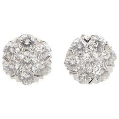 Van Cleef Arpels Fleurette Diamond White Gold Earrings