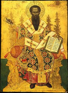 Life Synaxarion for Saint Basil the Great (Jan. The Dual Feast of St. Basil the Great and the Circumcision of Christ Encomium for. St Basil's, Russian Icons, Religious Paintings, Byzantine Art, Orthodox Icons, Renaissance Art, Antique Art, Art And Architecture, Wood Art