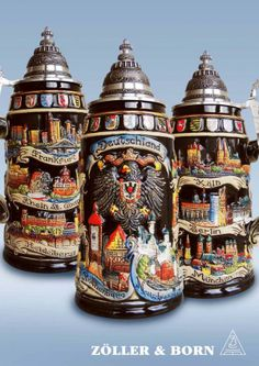 Black Forest Germany beer steins. The best beer in the world! They keep the best & export the rest.