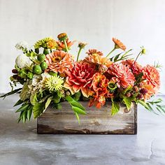 Hot-colored centerpiece