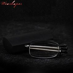7921c0ad986 WEARKAPER Portable Telescopic Arms Folding Reading Glasses Men Women Eyewear  With Flip-Top With Case