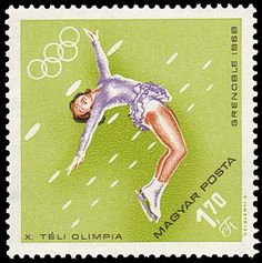 Winter Olympics, Olympic Games, Figure Skating, Tinkerbell, Skate, Disney Characters, Fictional Characters, Postage Stamps, Number