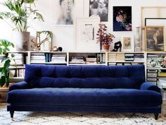 25 Stunning Living Rooms With Blue Velvet Sofas Blue