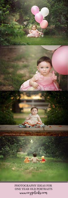 Are you shooting one year old portraits soon? Take a peek here to see some beautiful examples of outdoor, natural light one year old pictures!