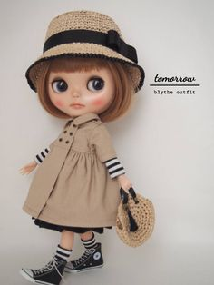◆tomorrow◆Blythe outfit ブライスアウトフィット◆トレンチワンピース7点セット◆_画像3