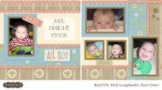 Studio J layout featuring baby boy with bright blue eyes #ctmh #ctmh StudioJ