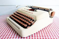 Your place to buy and sell all things handmade Portable Typewriter, Vintage Typewriters, Black Ribbon, The Help, 1950s, Tower, Notebook, Window, Wire