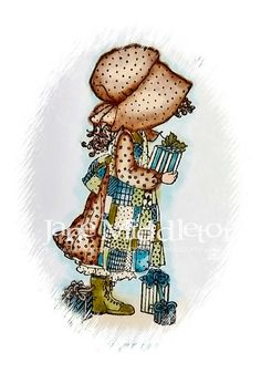 holly hobby | cutecrittercards.: Holly Hobbie Christmas with non traditional colours