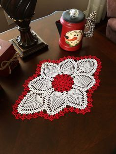 Custom Table Doily  Christmas Decor  by MyVintageSoulByRuth