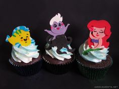 Geek Sweets - Cupcakes - Little Mermaid Cupcakes
