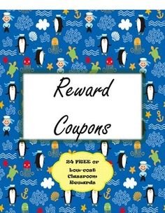 Do you spend a big chunk of money on treasure box items and other rewards each year? This product could be the solution for you. In this pack, there are 24 different reward coupons to choose from. Most of the coupons will cost you NOTHING. A few require low-cost items (candy bar, pencil, eraser)Examples:~Wear a hat in the classroom all day.~Enjoy a day without shoes (in the classroom only)~Enjoy a Tootsie Roll, candy bar, etc.~Switch seats with someone for the day.