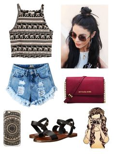 """Vanessa gives me so much style inspiration "" by epitomeofme ❤ liked on Polyvore featuring H&M, Steve Madden, Michael Kors and Casetify"