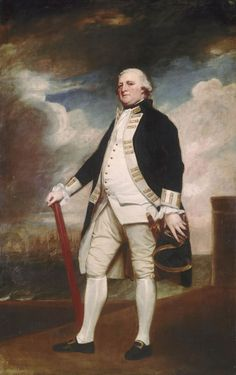 "— Vice-Admiral George Darby- George Romney (c.1783-1786)""Darby joined the Royal Navy as a volunteer. He had received his first command in 1747 and his career was uneventful until the Seven Years' War, in which he served under Admiral Rodney at the capture of Martinique in 1762. In the American Revolutionary War of 1775 to 1783, Admiral Keppel's resignation during the crisis following the Battle of Ushant in 1778 left a vacancy for command of the Channel Fleet. In 1778 Darby..."