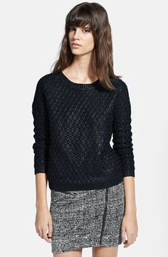 The Kooples Foiled Textured Sweater   Nordstrom