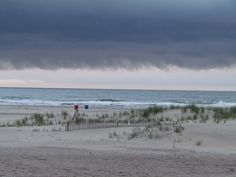 Storm clouds at the shore.