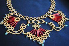 Tatting necklace piece