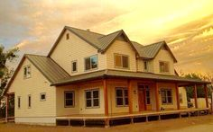 Architectural Designs Farmhouse Plan 4122DB, shown built in California, gives you 3-4 beds and over 2,200 square feet of living. Ready when you are. Where do YOU want to build?