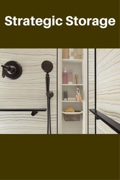 An important compliment to shower and tub wall panels is having the right storage solutions. In this article about designing larger showers get more storage tips - as well as 3 steps to a relaxing and functional larger shower - http://blog.innovatebuildingsolutions.com/2015/05/09/large-shower-making-bathroom-bigger/