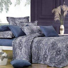North Home Bedding Lauren 4-Piece 220-Thread Count Duvet Cover Set | Lowe's Canada
