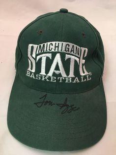 MSU Michigan State Tom Izzo autographed hat cap basketball ce40b7a377cd