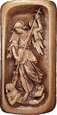 Sacral reliefs - Relief St. Michael, 080x040 cm