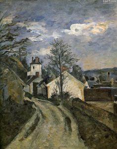 Paul Cézanne: The House of Dr. Gachet, 1873. Oil on canvas, 46 × 38 cm. Musée d'Orsay, Paris