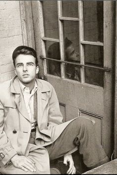 """Montgomery Clift, 1948 """"Did you know this about Montgomery Clift? His Broadway Debut: Fly Away Home (age 13) Film Debut: Red River (1948) He was born a twin; his sister was named Roberta."""""""