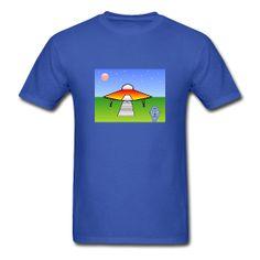 Extraterrestrial UFO T-Shirt #Tshirt #Extraterrestrial #UFO #Cartoon #Toon Classic-cut standard weight t-shirt for men, 100% pre-shrunk cotton, Brand: Gildan