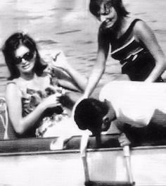 October 1963: Jackie Kennedy relaxing during a two-week recuperative vacation in Greece.