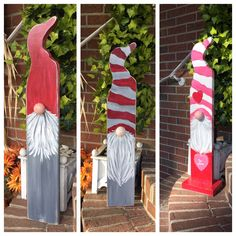 Decorate your outdoor space with our popular porch gnomes! Christmas Gnome, Christmas Art, Winter Christmas, Christmas Ornaments, Christmas Crafts To Sell, Barn Wood Crafts, Wooden Crafts, Handmade Signs, Handmade Shop