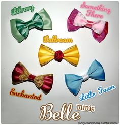 Magical Ribbons - Custom made Disney hair bows for any character/movie/cast member! Disney Diy, Disney Crafts, Disney Hair Bows, Bow Accessories, Do It Yourself Crafts, Little Bow, Cute Bows, Disney Inspired, How To Make Bows