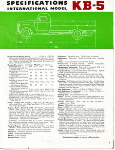 KB-5 is a 1 1/2 ton truck brochure. This is page 7.