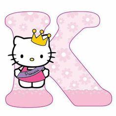 Escuela infantil castillo de Blanca: ALFABETO HELLO KITTY Alphabet Letters Design, Alphabet Templates, Hello Kitty Pictures, Kitty Images, Hello Kitty Birthday, Cat Birthday, Hello Kitty Face Paint, Hello Kitty Clipart, Hello Kitty Imagenes