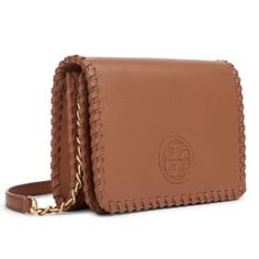 "NWT!Tory Burch ""Marion Combo"" Crossbody Bag/Clutch Brand new with tag and gift packaging (never been used). In color ""bark"".  Adjustable and detachable strap. Beautiful versatile bag! Goes with everything! Serious offers only please. Tory Burch Bags Crossbody Bags"