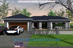 Overall Dimensions- x mBathrooms- 3 Car GarageArea- Square meters Tuscan House Plans, Best House Plans, House Floor Plans, Building Costs, Building Plans, Beautiful House Plans, Beautiful Homes, Single Storey House Plans, House Plans South Africa