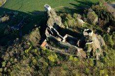 Trosky Castle - bird view!