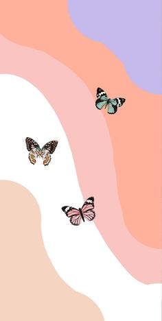 Butterfly Wallpaper Iphone, Disney Phone Wallpaper, Iphone Background Wallpaper, New Wallpaper, Aesthetic Pastel Wallpaper, Aesthetic Backgrounds, Aesthetic Wallpapers, Collage Des Photos, Photo Wall Collage