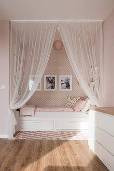 Girl Bedroom Designs, Room Ideas Bedroom, Small Room Bedroom, Home Decor Bedroom, Cute Room Decor, Cozy Room, Kids Room Design, Dream Rooms, My New Room