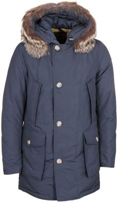 Woolrich Grey Down Filled Arctic Parka
