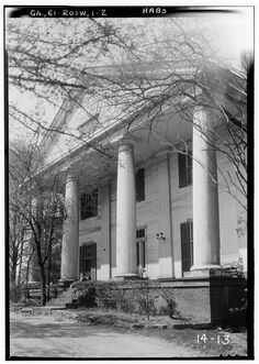 2.  Historic American Buildings Survey Branan Sanders, Photographer March 1934 PORCH-EAST - Bulloch Hall, Roswell, Fulton County, GA | Library of Congress