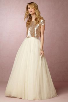 Baby Youre Golden These New BHLDN Wedding Dresses Are Like Wearable Candlelight