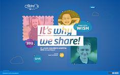 St. Louis Children's Hospital #webdesign #inspiration #UI