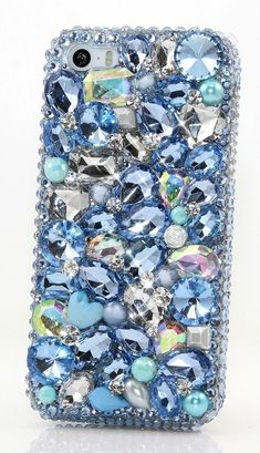 Baby blue stones bling crystals phone case for iphone - blue Cheap Iphone 7 Cases, Iphone 6 Cases, Iphone 6 Plus Case, Phone Covers, Iphone 8, Bling Phone Cases, Cute Phone Cases, Diy Phone Case, Cheap Iphones